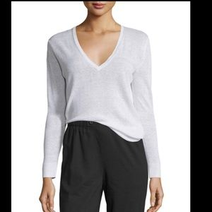 Theory Adrianna Sag Harbor Linen Pullover in Lilac